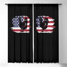 Chicken American Flag Blackout Curtain