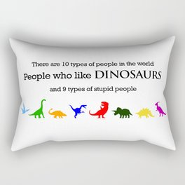 10 Types of People (Dinosaurs) Rectangular Pillow