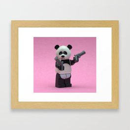 Banksy Panda Framed Art Print