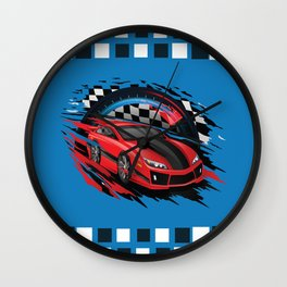 Race Car Wall Clock
