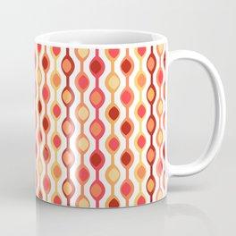 Retro Bead Pattern in Yellow and Orange Coffee Mug