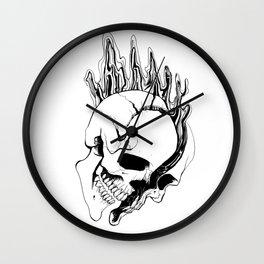 Skull (Spill) Wall Clock