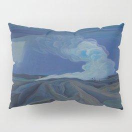 Canadian Landscape Oil Painting Franklin Carmichael Art Nouveau Post-Impression The Nickel Belt 1928 Pillow Sham