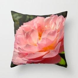 'Shirley Temple' Peony Throw Pillow