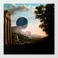 death star Canvas Prints featuring Death Star by DIVIDUS