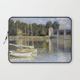 Claude Monet The Argenteuil Bridge Laptop Sleeve