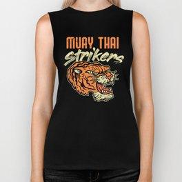 Muay Thai Strikers Tiger Kickboxing MMA Material Arts Judo Karate Gift Biker Tank