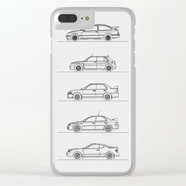 GROUP A RALLY CARS Clear iPhone Case