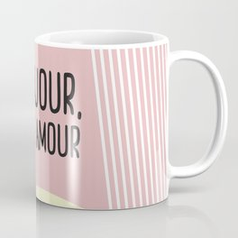 Bonjour Mon Amour Pink #babygirl #nursery #childrensroom #baby #babyshower #illustration #gift Coffee Mug