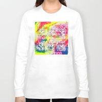 ultraviolence Long Sleeve T-shirts featuring Ultraviolence 4i skull - mixed media on canvas by kakin