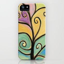 Yellow Love Tree iPhone Case