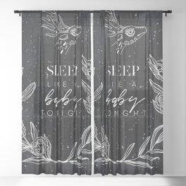 Mysterious Luna #6: Sleep like a baby tonight Sheer Curtain