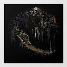 Gravelord Nito - Dark Souls (black tee PNG edition) Canvas Print