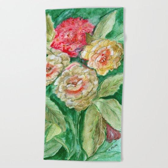 Floral Fusion Beach Towel