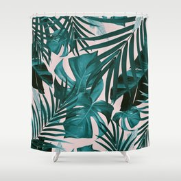 Tropical Jungle Leaves Pattern #3 #tropical #decor #art #society6 Shower Curtain