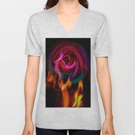 Fire rose Unisex V-Neck