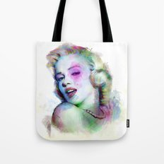 Marilyn under brushes effects Tote Bag