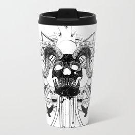 Rock Horned Skull Graphic  Travel Mug