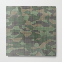 Camouflage Nature Metal Print