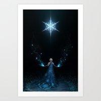 frozen Art Prints featuring Frozen by Westling