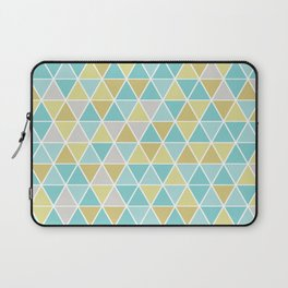 Triangulation (blue and green) Laptop Sleeve
