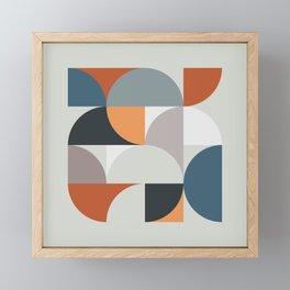 Mid Century Geometric 11 Framed Mini Art Print