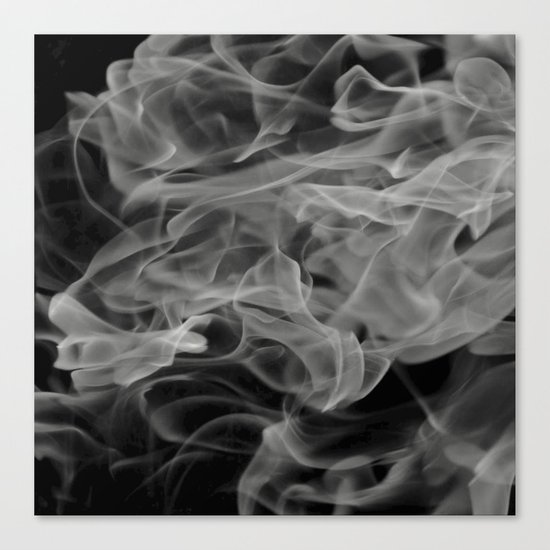 Whispers - Black and white abstract Canvas Print