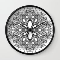 plant Wall Clocks featuring plant by Ichsjah