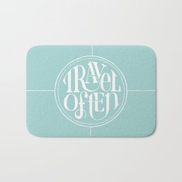 Travel with Teal Bath Mat