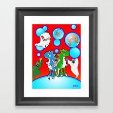 Bubble Bobble Redux Framed Art Print