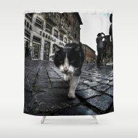 Street Cat Shower Curtain