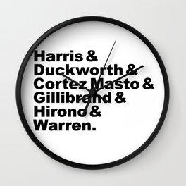 nasty women: senators Wall Clock