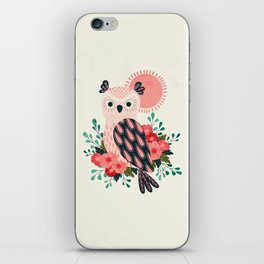 Owl and Blossoms iPhone Skin