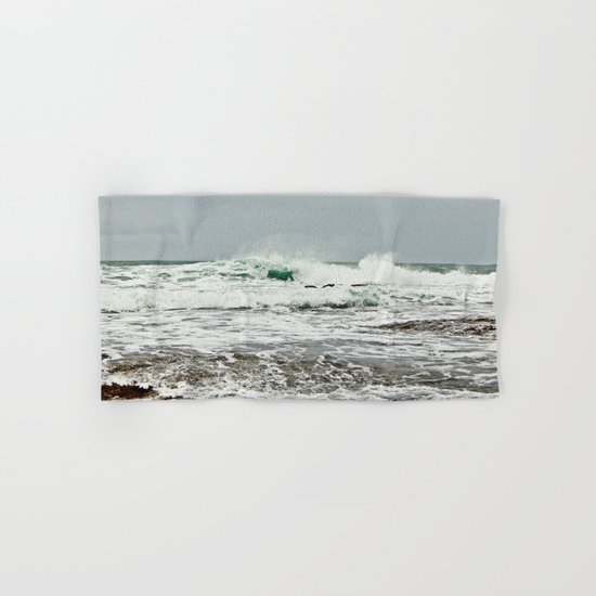 Sea Breaks on the Tidal Shelf Hand & Bath Towel