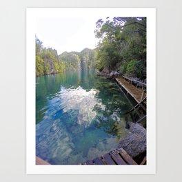 Kayangan lake Art Print
