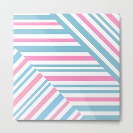 Geometric pattern. Striped triangles 2 Metal Print