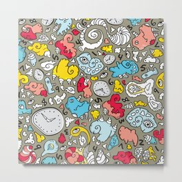 PLAYTIME_A GREY BACKGROUND Metal Print