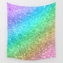 Rainbow Princess Glitter #1 #shiny #decor #art #society6 Wall Tapestry