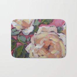 apricot roses Bath Mat