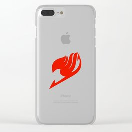 Fairy Tail Red Logo Clear iPhone Case