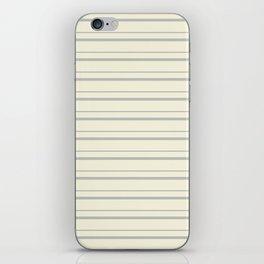 Benjamin Moore 2019 Color of the Year 2019 Metropolitan Light Gray on Lemon Chiffon Pale Pastel Yell iPhone Skin
