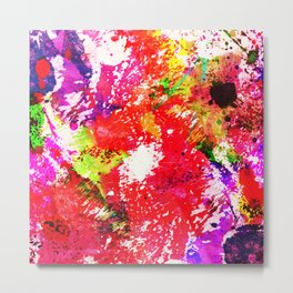 Expression Of Colour - Abstract Painting In Rainbow Colours Metal Print