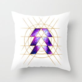 Nebula Hunter Sigil Throw Pillow