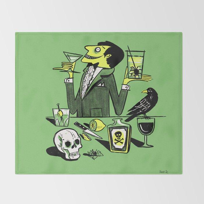 Drinks With The Mad Scientist Next Door Throw Blanket