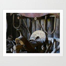 Rustic Saddle Art Print