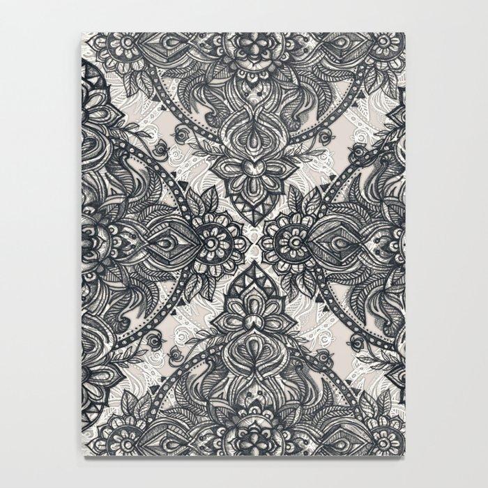 Charcoal Lace Pencil Doodle Notebook