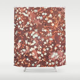 Beautiful White Petaled Flowers Shower Curtain