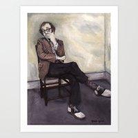 woody allen Art Prints featuring Woody Allen by Melinda Hagman