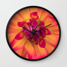 Dahlia & Raindrops, 3 Wall Clock