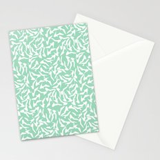 Shoes White on Mint Stationery Cards